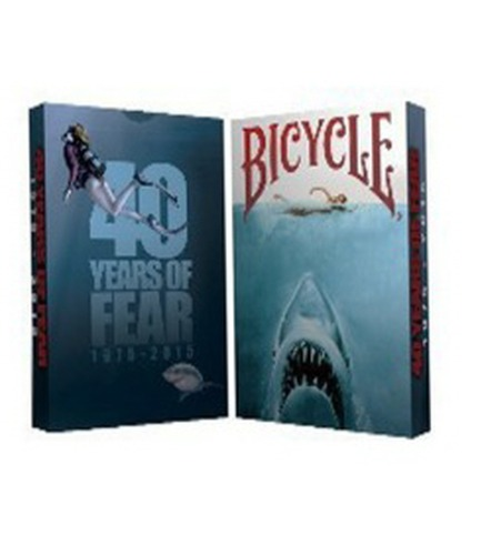 바이시클 40주년 기념 덱   Bicycle 40 Years of Fear Jaws Playing Card